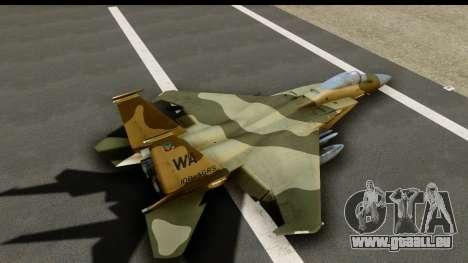 F-15C Eagle Desert Aggressor für GTA San Andreas Innenansicht