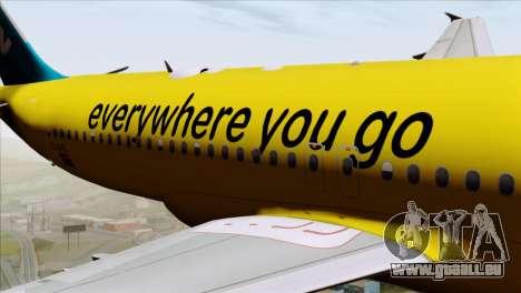 Airbus A320-200 MTN pour GTA San Andreas vue arrière
