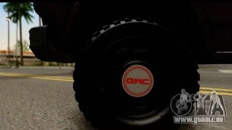 GMC Vandura G-1500 Payday 2 für GTA San Andreas Rückansicht