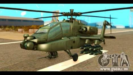 Boeing AH-64D Apache für GTA San Andreas