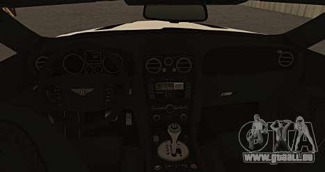 Bentley Continental GT Platinum Motorsport für GTA San Andreas zurück linke Ansicht