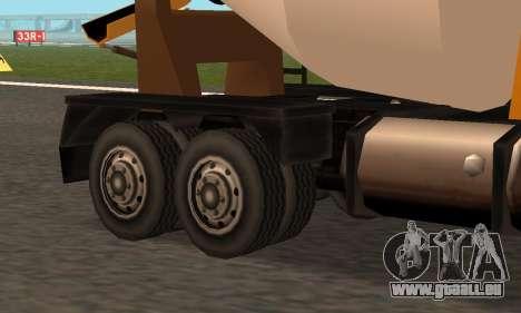 Cement Truck Fixed für GTA San Andreas Rückansicht