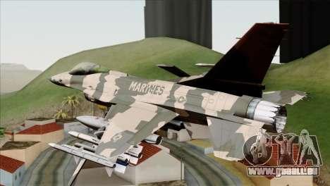 F-16C Top Gun für GTA San Andreas linke Ansicht