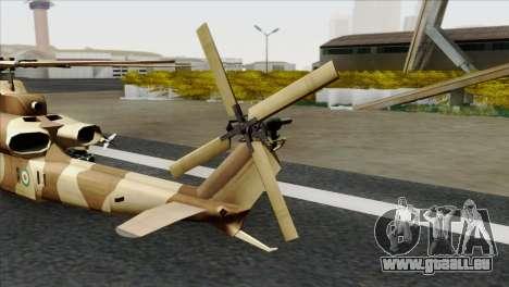 AH-1Z Viper IRIAF für GTA San Andreas zurück linke Ansicht