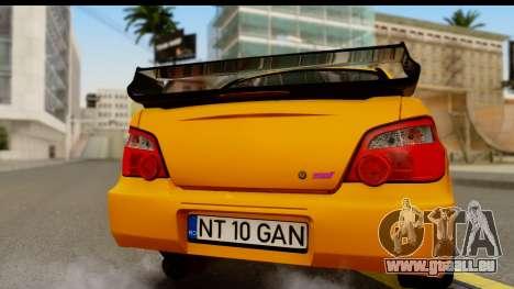 Subaru Impreza WRX STI 2005 Romanian Edition pour GTA San Andreas vue de droite