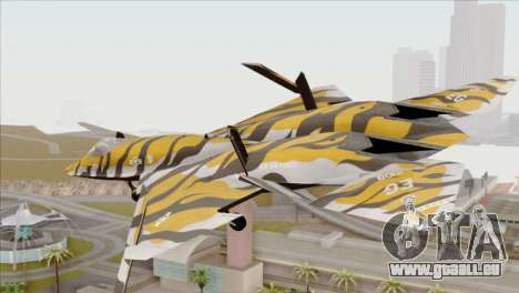 YF-23 Black Widow II Tigermeet für GTA San Andreas linke Ansicht