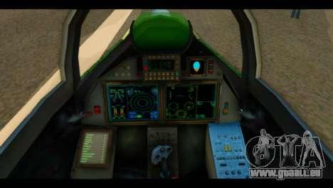 SU-37 Terminator Russian AF Camo für GTA San Andreas Rückansicht