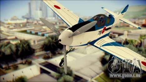 P-39N Airacobra JASDF Blue Impulse für GTA San Andreas Rückansicht