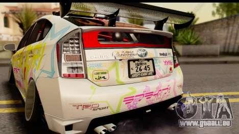 Toyota Prius Hybrid Eri Ayase Love Live Itasha pour GTA San Andreas vue de droite