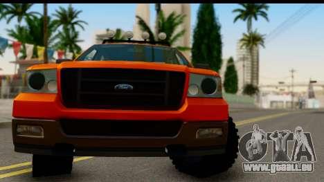 Ford F-150 4x4 pour GTA San Andreas sur la vue arrière gauche