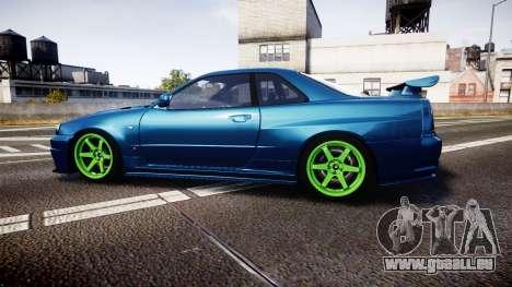 Nissan Skyline BNR34 GT-R V-SPECII 2002 für GTA 4 linke Ansicht
