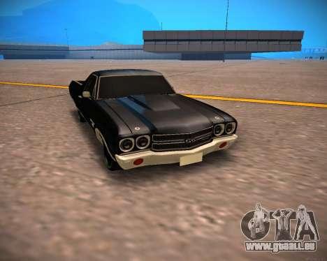 Chevrolet El Camino SS Green Hornet für GTA San Andreas linke Ansicht