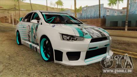 Mitsubishi Lancer Miku Hatsu für GTA San Andreas