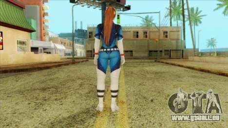 Dead Or Alive 5 LR Kasumi Fighter Force für GTA San Andreas zweiten Screenshot