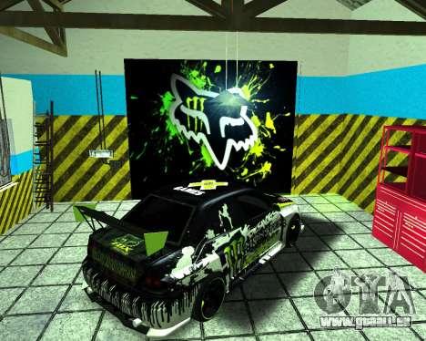 Mitsubishi Lancer Evolution IX Monster Energy DC für GTA San Andreas zurück linke Ansicht
