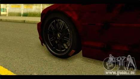 BMW 330 Tuning Red Dragon für GTA San Andreas zurück linke Ansicht