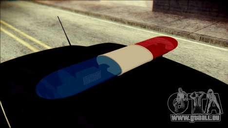 Ford Focus ДПС pour GTA San Andreas vue arrière