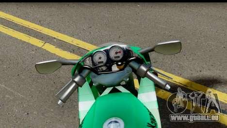 Kawasaki ZX-9R für GTA San Andreas Rückansicht