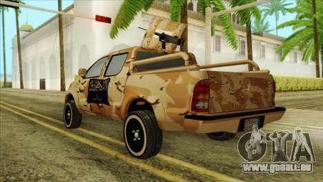 Toyota Hilux Siria Rebels pour GTA San Andreas laissé vue