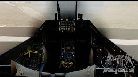 F-16C Polish Air Force Tigers für GTA San Andreas Rückansicht