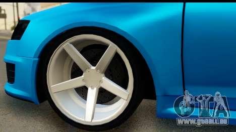 Audi RS6 Vossen für GTA San Andreas Rückansicht