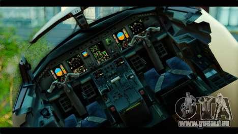 Embraer 190 Lion Air für GTA San Andreas Rückansicht