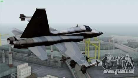 Northrop F-5E Tiger II Wardog Squadron pour GTA San Andreas laissé vue
