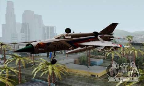 MIG-21MF Slovak Air Force SLP für GTA San Andreas