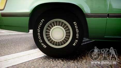 Ford LTD LX 1985 v1.6 pour GTA 4 Vue arrière