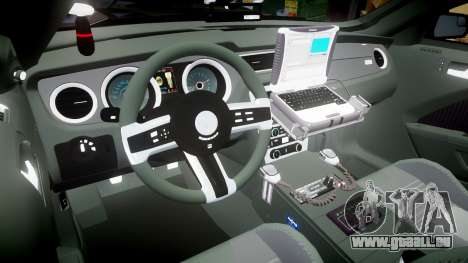 Ford Mustang GT 2015 FBI Unmarked [ELS] für GTA 4 Rückansicht
