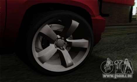 Cadillac Escalade 2013 für GTA San Andreas zurück linke Ansicht