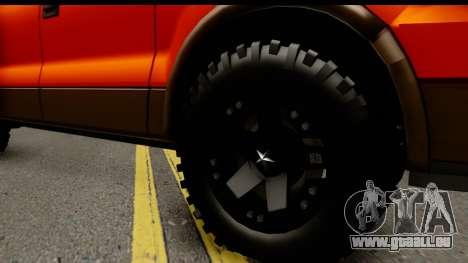 Ford F-150 4x4 pour GTA San Andreas vue arrière