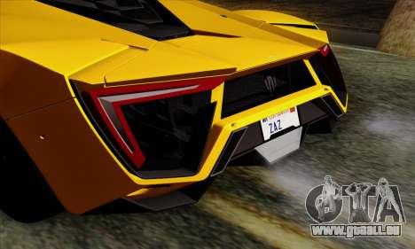 Lykan Hypersport 2014 Livery Pack 2 für GTA San Andreas Rückansicht