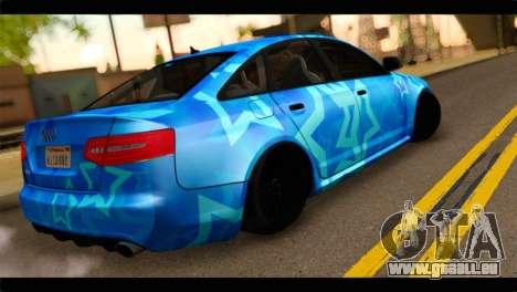 Audi RS6 VIP Star pour GTA San Andreas laissé vue