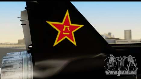 Mikoyan-Gurevich MIG-31 China Air Force pour GTA San Andreas vue de droite
