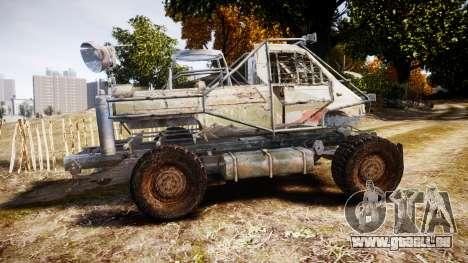 Militaire camion blindé pour GTA 4 est une gauche