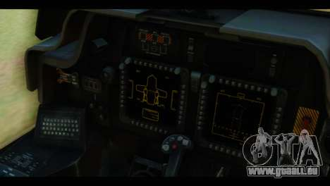 Boeing AH-64D Apache für GTA San Andreas Rückansicht