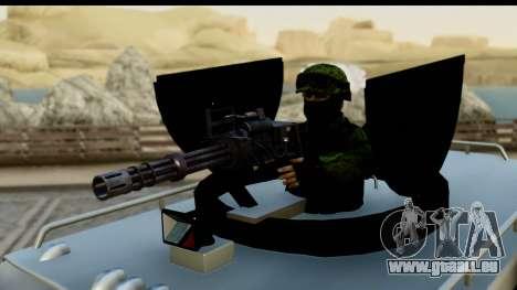 Camion Blindado pour GTA San Andreas vue de droite