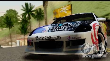 Mitsubishi Eclipse 2003 Fate Zero Itasha für GTA San Andreas zurück linke Ansicht