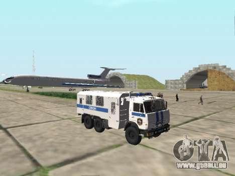 KamAZ-43114 ein OMON für GTA San Andreas Innenansicht