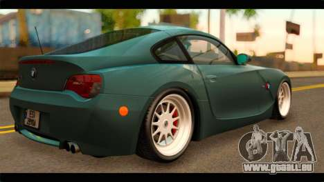 BMW Z4M Coupe pour GTA San Andreas laissé vue