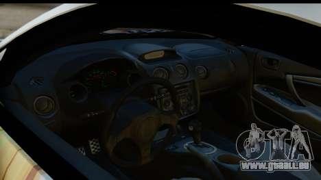 Mitsubishi Eclipse 2003 Fate Zero Itasha für GTA San Andreas Rückansicht