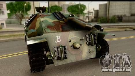 Jagdpanzer 38(t) Hetzer Chwat für GTA San Andreas zurück linke Ansicht