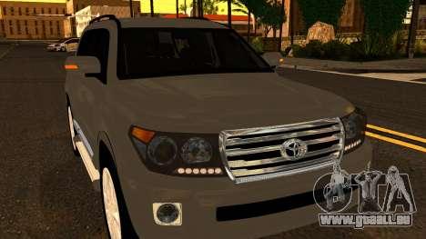 Toyota Land Cruiser 200 2013 für GTA San Andreas Seitenansicht