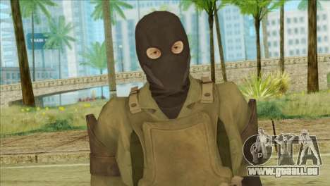Metal Gear Solid 5: Ground Zeroes MSF v2 pour GTA San Andreas troisième écran
