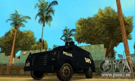 Beta FBI Truck für GTA San Andreas Rückansicht
