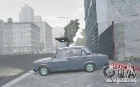 VAZ 2107 de Vidange pour GTA 4 Vue arrière de la gauche