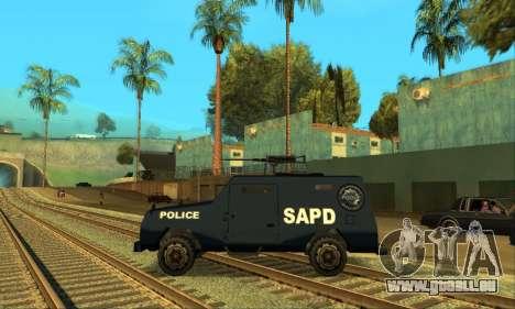 Beta FBI Truck für GTA San Andreas rechten Ansicht