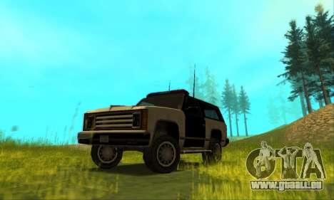 Beta Police Ranger für GTA San Andreas Seitenansicht