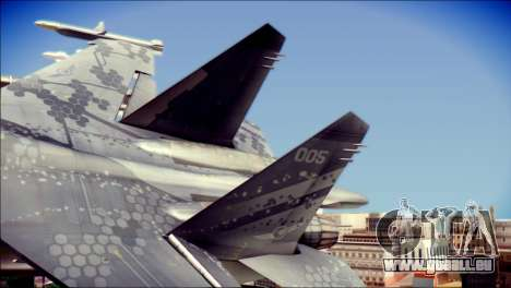 SU-37 Hexagon Madness pour GTA San Andreas sur la vue arrière gauche